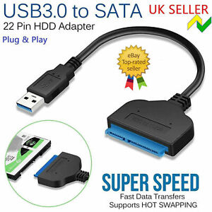 USB to SATA Adapter Cable Reader for External SSD HDD Hard Disk Drive PC