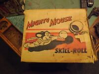RARE Mighty Mouse Skil-Roll Game In Original Box