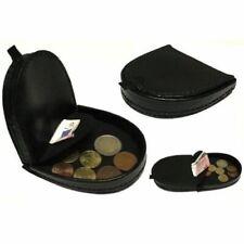 porte-monnaie portefeulle croute cuir veritable Noir demi lune cuvette billet fr