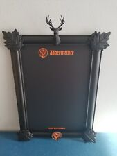 (L@@K) Jagermeister Whiskey back bar deer mount 3D chalkboard sign game room new