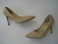 MICHAEL ANTONIO CANVAS STUDDED POINTED TOE  PUMP WOMEN size US 7 HOT SEXY