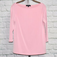 Slinky Brand 3/4 Sleeve Boatneck Office or Casual Top Sz XS (Dusty Rose) #00352