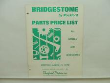 March 1970 Bridgestone Parts Price List All Models Motorcycle L10960