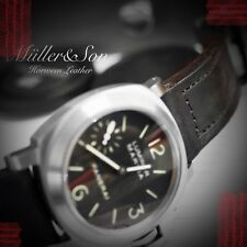 Müller&Son Genuine Horween Leather 24 mm Black Watch Strap Handmade for Panerai