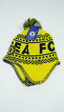 Chelsea FC POM BEANIE Snow Cap Sports Soccer Hat With Tassels Yellow New