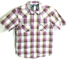 Patagonia Organic Cotton Men's Short Sleeve Plaid Hiking Shirt Size Medium