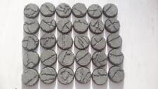 10* 32mm Round Cracked Concrete  bases for warhammer 40k , conflict 47, deadzone