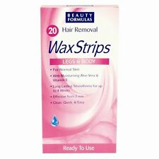Women 20 Hair Removal Legs & Body Wax Strips 4 Normal Skin Clean Quick & Easy