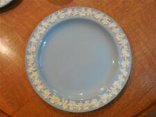 "Wedgwood  Embossed Queensware cream on lav smooth edge 10"" dinner plate"