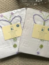 "Pottery Barn Kids Lavender Butterfly Sheer 96"" Curtain Panel Drape - 2 panels"