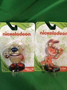 NICKELODEON - Ren & Stimpy - STIMPY J. CAT And Ren Höek Figures Nicktoons