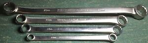 RARE USA MADE 4 CRAFTSMAN INDUSTRIAL METRIC BOX WRENCHES 13 - 28MM SATIN FINISH
