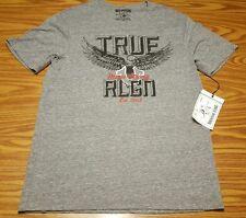 NWT $68 True Religion Bold Eagle SS Crew T Shirt Style M5O8U24YD7 Heather Grey M