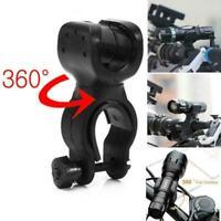 360° Rotation Torch Clip Mount Bicycle Bike Light Flashlight Bracket Holder C1F1