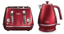 Delonghi KBI2001R/CTI4003R Distinta Kettle & Toaster Pack - Red - RRP $347.98