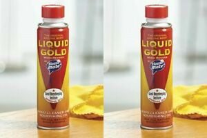 2 x Wood Reviver Liquid Gold Wood Cleaner Reviver Nourishing Oil 2X 250ml Tins