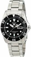 Seiko 5 SNZF17K1 Sports Automatic Black Dial Sea Urchin Steel Men Watch RRP £279