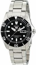 Seiko 5 SNZF17K1 Sports Automatic Black Dial Sea Urchin Steel Men Watch