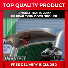 RENAULT TRAFIC 2014> QUALITY PU REAR TWIN BARN DOOR SPOILER NOT CHEAP FIBREGLASS