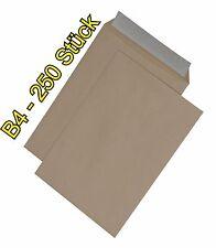 250 Stück Briefumschläge B4 Braun 250x353 mm Haftklebend  B4 Braun HK  TOP