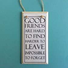 Rectangle Best Friend Decorative Indoor Signs/Plaques