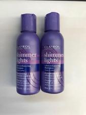 2 Bottle Of  Clairol Shimmer Lights Color-enhancing 2 oz Shampoo