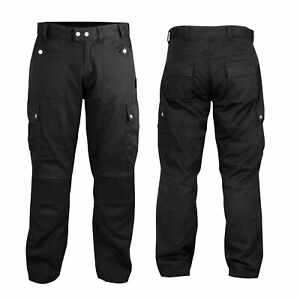 Motorrad Hosen CE Protektoren Jeans StyleTextil Aramid Schwarz