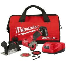Milwaukee 2522-21XC M12 FUEL 12V 3-Inch 4.0Ah Cordless Cut Off Tool Kit