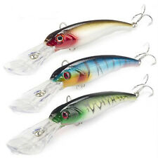 3pcs Fishing Lure Big Float Minnow Plastic Deep Diver Hard Lures 16.5cm Swim