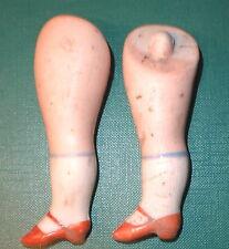 """Antiguo piernas 3.27"""" Para Casa De Muñecas Muñeca Lastic de fijación"""