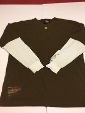 FENDER By DA VINCI Brown Long Sleeve T-shirt Men's Eagle Size XL (USA)