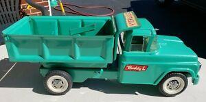 "Vintage 60's ""Buddy L"" Teal Blue HYDRAULIC dump truck..  SUPER CLEAN !!"