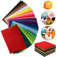 50pcs Colorful DIY Soft Nonwoven Felt Fabric Sheets Craft Patchwork 20x30cm