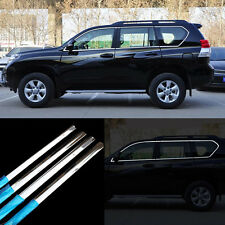 18pcs New Stainless Steel Door Window Frame Sill Molding Trim For Toyota Prado