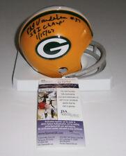 PACKERS Phil Vandersea signed mini helmet w/ SB I Champs JSA COA AUTO Autograph