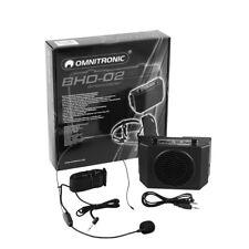 Omnitronic BHD-02 Personal Speaker Waistband Amplifier Speech inc Headset