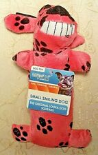 """Multipet SMILING LOOFA Exercise Fetch Chew Crinkle Squeaky Dog Toy GIRL Pink 6"""""""