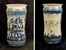 Albarello vaso da farmacia ceramica maiolica - manifattura Napoli '700 n.3