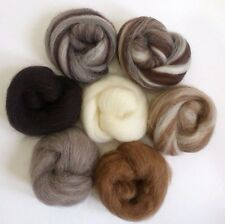 Needle Felting All Natural Collection Ideal for Animal Projects Felting Wool 45g
