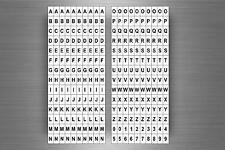 Set 280 x sticker adesivo adesivi alfabeto numero scrapbooking lettere r1