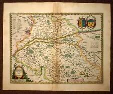 carte geographique ancienne REGION DE LA TOURAINE par HONDIUS 1620 old antic map