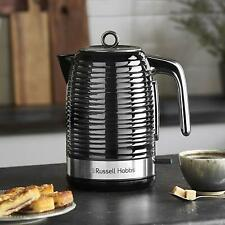 Russell Hobbs 24361 Inspire Electric Kettle 3000W 1.7 Litre Black Chrome Accents