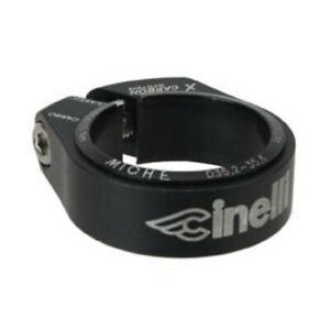 Cinelli Logo Seat Collar/Clamp 35.2-35.6mm Black