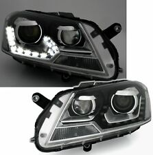 Black clear finish LED DRL daytime headlights for VW PASSAT 3C B7 10-14