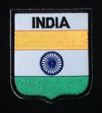 INDIA INDIAN NATIONAL FLAG BADGE IRON SEW ON PATCH CREST SHIELD BACKPACKER