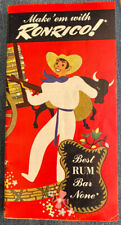 Vintage Make 'Em With Ronrico Best Rum Bar None Booklet Recipes