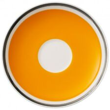 Villeroy & and Boch ANMUT Orange Sunset saucer for espresso cup 12cm NEW NWL