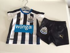 Newcastle United Football Shirt And Short Set For Baby Age 2-4 Months
