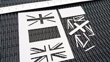 Reino Unido Reino Unido GB Bandera Stencil Aerografía Pintura Coche de tarjeta de diseño Patriótico