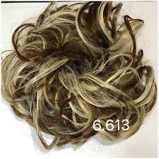 Hair Scrunchie Flicky Wavy Hairpiece Wrap Messy Updo Bun Blonde & Brown #6.613